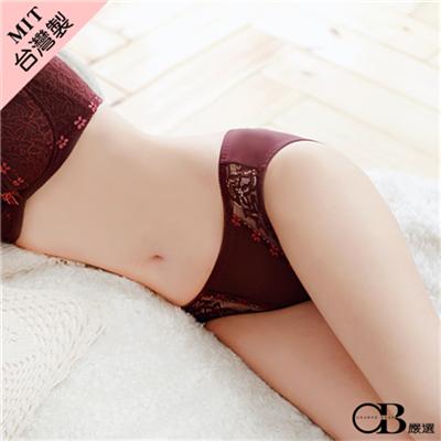 1229新品【特價款】舞蝶飛舞~V字蕾絲拼接低腰內褲‧台灣製‧2色-加