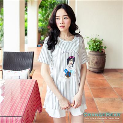 【春氛特賣】漫畫風運動女孩直條紋上衣•3色