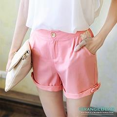 0808新品 可愛甜心~蕾絲口袋側邊小蝴蝶結短褲‧3色