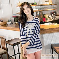 0918新品 浪漫格調~兩件式鏤空蝴蝶結緹花長版上衣.2色