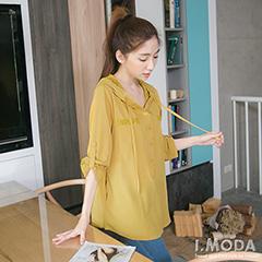 0828新品 美式潮流~英文圖案燙印鉚釘裝飾上衣.2色