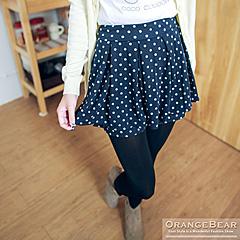 1015新品 活潑俏麗~滿版圓點傘擺打摺造型褲裙‧4色