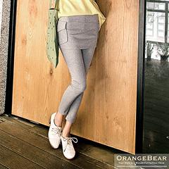 0825新品 街頭休閒~假兩件式率性短裙內搭褲.3色