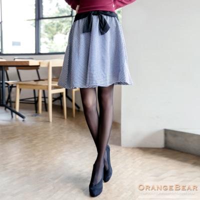 俏麗無限~格紋腰間蝴蝶結裝飾短裙.2色