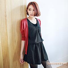 1118新品 發燒話題~俏麗點點少女風兩件式嚴選洋裝.3色