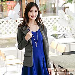1024新品 淑女風範~翻領腰圍剪接西裝外套.4色