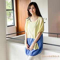 1024新品 可愛注目~撞色系寬版連袖針織上衣.3色
