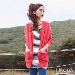 1117新品 溫暖怡人~素色细麻花針織外套.4色