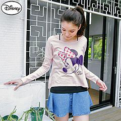 【迪士尼.歡樂秋祭】迪士尼純棉系列~發泡點點蝴蝶結米妮短版T恤‧女3色