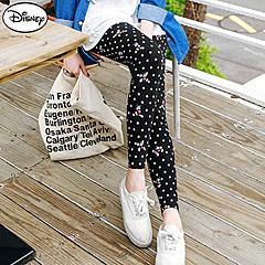 0825新品 迪士尼高棉彈力系列~米奇點點滿版印花內搭褲.女3色