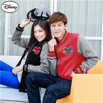 迪士尼超保暖刷毛/情侶款系列~米奇棒球外套‧女3色