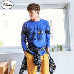 【迪士尼.歡樂秋祭】迪士尼純棉系列~28數字米奇條紋袖圓領T恤‧男3色