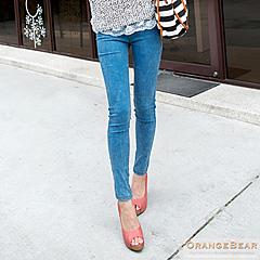 0427新品 魅力加分~極細感彈力修身雪花洗色窄管褲.3色