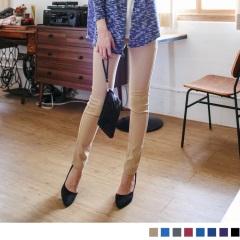 0722新品 美腿計劃~橫紋鬆緊腰圍單寧彈力窄管褲‧8色