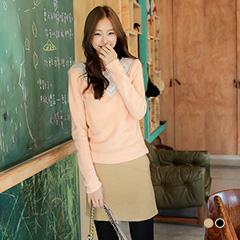 1023新品 高雅品味~質感毛料立體剪裁修身短裙.2色