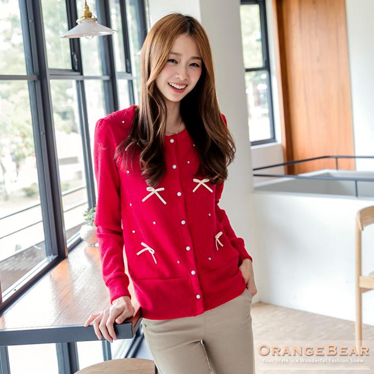 0305新品 優雅斐麗~珍珠釦兔毛絨嚴選韓版小外套.4色