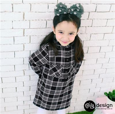 0616新品 柔感純棉法蘭絨系列~仿舊經典格紋開襟洋裝‧童3色
