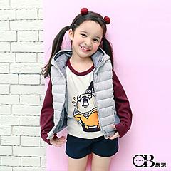 1007新品 純棉/親子系列~橘醬燙印圖七分袖棒球T恤.童3色