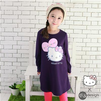 0616新品 HELLOKITTY保暖升溫系列~愛心洋裝‧童3色