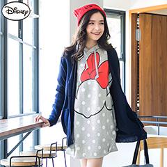 1013新品 迪士尼超保暖刷毛系列~米妮側臉圓點連帽洋裝‧女3色