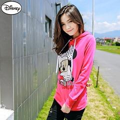 0915新品 迪士尼輕暖衛衣系列~米妮對焦姿勢連帽T恤‧女3色