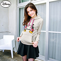 1003新品 迪士尼輕暖衛衣系列~米奇米妮KISS連帽T恤‧女3色