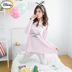 0915新品 迪士尼輕暖衛衣系列~瑪莉貓連帽長T+長褲套裝‧女2色
