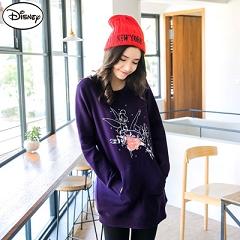 【迪士尼.歡樂秋祭】迪士尼超保暖刷毛系列~嬌俏小精靈口袋長版T恤‧女3色