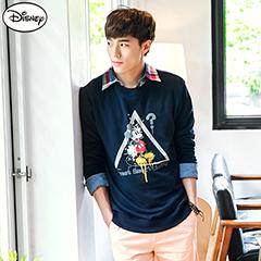 0915新品 迪士尼輕暖衛衣系列~米奇三角框框T恤‧男3色