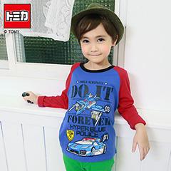 0909新品 TOMICA純棉系列~藍色救援隊警車棒球T恤‧童3色