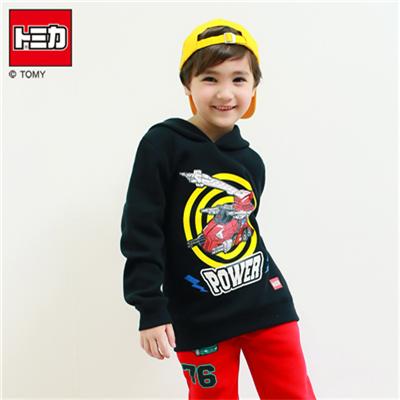 0415新品 TOMICA超保暖刷毛系列~帥氣紅車系列帽T‧童3色