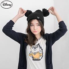 1003新品 迪士尼穿搭系列~米奇繡花趣味雙球毛帽‧1色