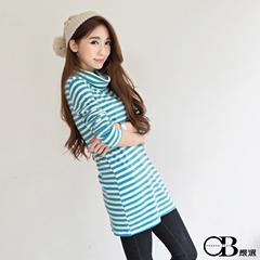 1022新品 親子裝系列~淡雅條紋套頭長版上衣.5色