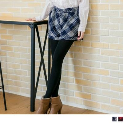 1225新品 甜美樂章~滿版小圓點格紋毛呢反折短褲•3色