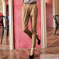 1022新品 知性美感~附皮帶打褶修身哈倫長褲.3色