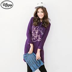 1013新品 迪士尼超保暖刷毛系列~優雅笑容黛西連帽洋裝‧女3色
