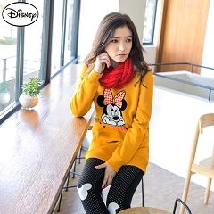 【迪士尼.歡樂秋祭】 迪士尼超保暖刷毛系列~千鳥格米妮口袋長版T恤‧女3色