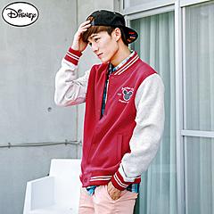 1022新品 迪士尼超保暖刷毛系列~米奇條紋徽章棒球外套‧男3色