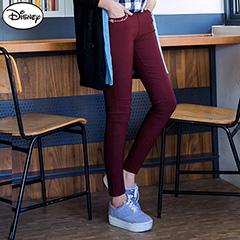 1013新品 迪士尼輕刷毛高彈系列~米奇燙印輕刷毛長褲.5色