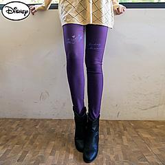 1013新品 迪士尼輕刷毛高彈系列~米奇米妮燙印輕刷毛長褲.5色