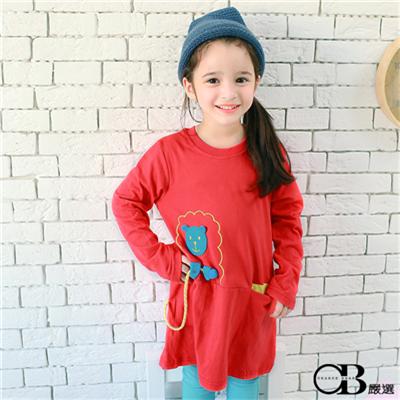 【可愛童裝♥單件8折】可愛童趣~棉羊造型裝飾撞色口袋上衣.2色
