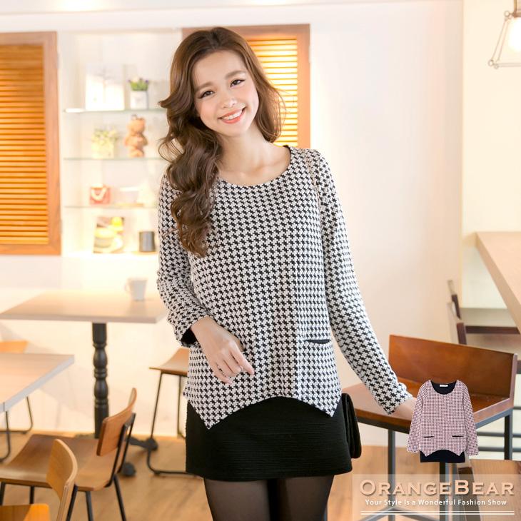 優雅ob嚴選洋裝風範~假兩件式質感緹花雙層次長版上衣.2色