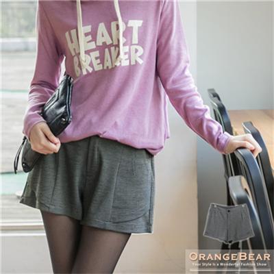0120新品 輕柔美型~質感面料立體剪裁短褲.2色