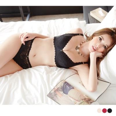 玩美女人~3/4罩薄墊蕾絲內衣‧3色(B-C)