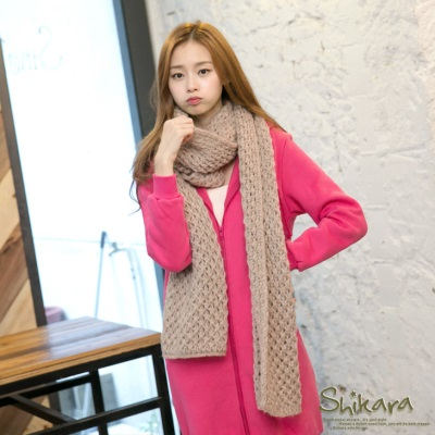 1012新品 格調暖感~高質感粗針織圍巾.4色