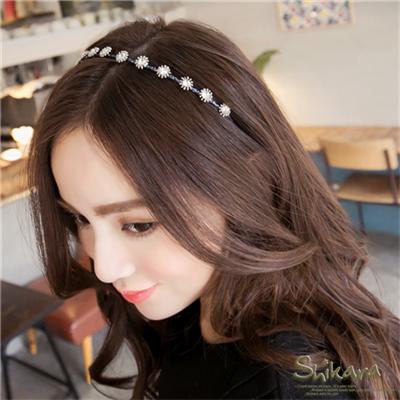 【浪漫飾品♥2件8折】優雅閃動~水鑽裝飾造型髮箍.2色