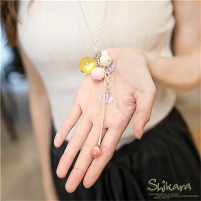 【浪漫飾品♥2件8折】可愛滿分~粉嫩色系壓克力珠珠層次項鍊.2色