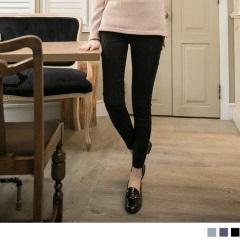 【顯瘦下著♥單件75折】唯美綺麗~立體繡紋質感彈性面料長褲.3色