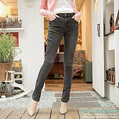 0623新品 美型動人~立體剪裁刷色彈性牛仔長褲