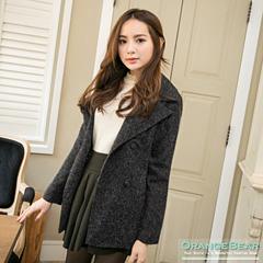 0225新品 高雅美型~混色質感面料雙排釦翻領外套.2色